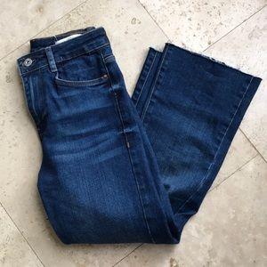 Zara cropped flare jeans